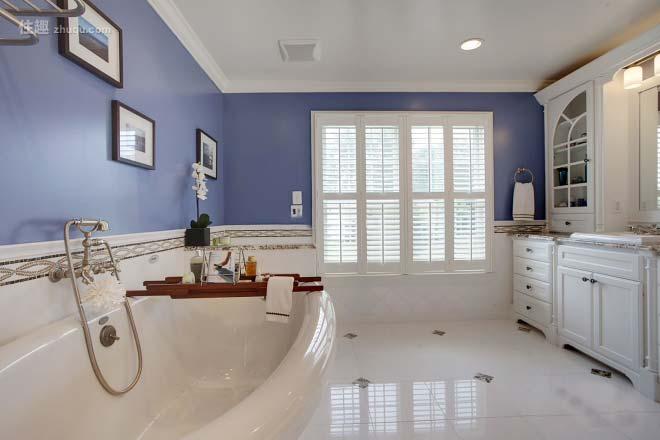 紫色系卫生间装饰图片