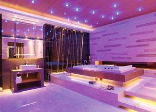 紫色系卫生间实景图