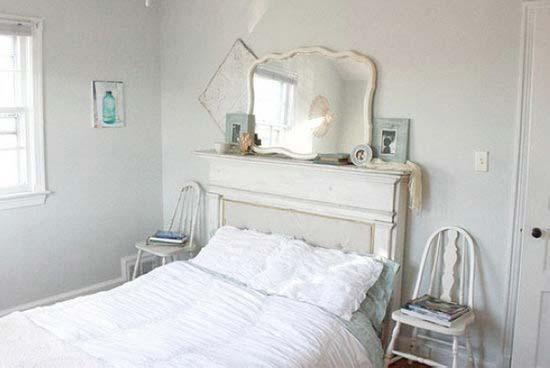 白色系床头柜装修图片