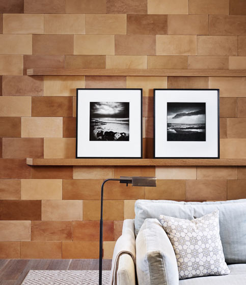简约风沙发 马赛克背景墙设计