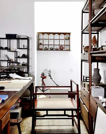 中式书房实木家居装饰效果图