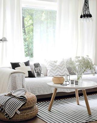 舒适北欧简约客厅沙发效果图
