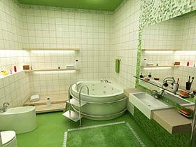 淡雅的天堂  10款绿色系卫生间装修图片