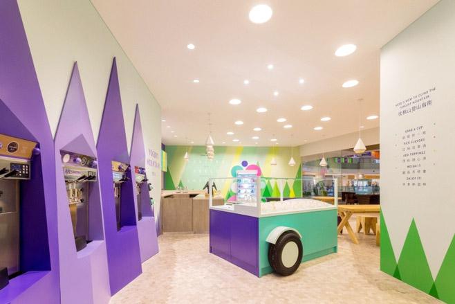 上海三联甜品店室内装修图片