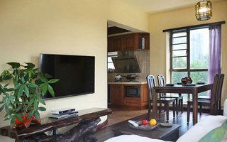 45平米东南亚风格客厅电视背景墙装修图片