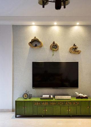 典雅新中式客厅电视背景墙设计