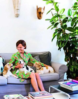 140平两居室混搭风格客厅布艺沙发图片