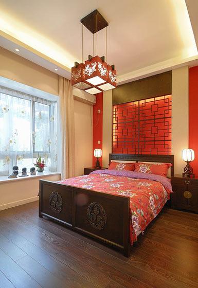 104平米气质中式卧室设计效果图
