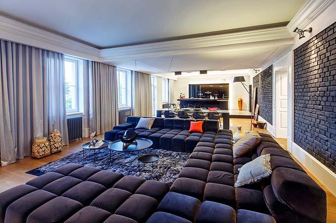 奢华大气现代风客厅沙发效果图