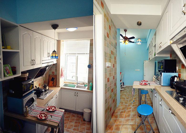 40平地中海风格厨房装修效果图