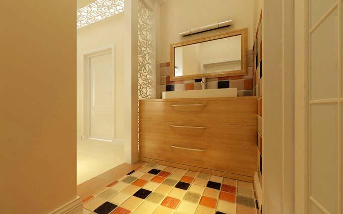 卫生间地面设计铺贴图片