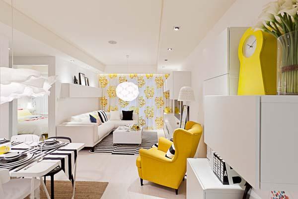 现代客厅装修装饰效果图