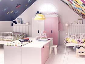 斜屋顶的天真  10款阁楼儿童房设计实景图