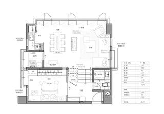 85平单身公寓平面设计图