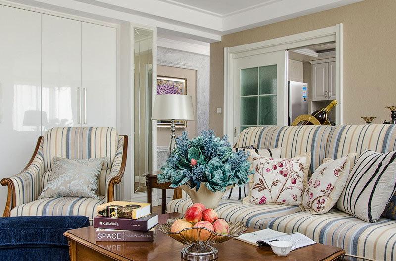 欧式田园风客厅沙发设计图