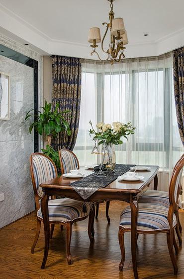 古典欧式实木餐厅效果图