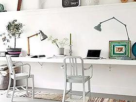 5款北欧风双人书房设计  温馨布局为爱加分