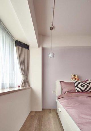 132㎡北欧森系粉紫色卧室效果图片