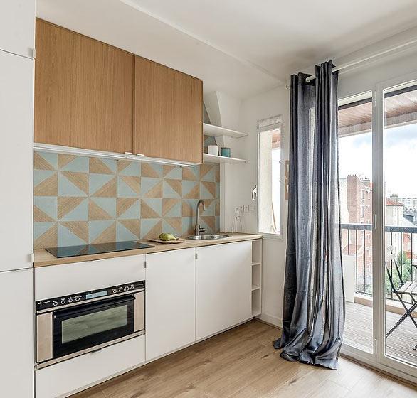 25平米北欧小户型小厨房装修图