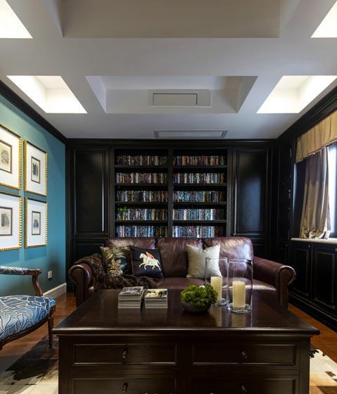 200平米美式书房设计效果图