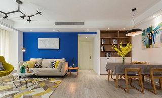 89平现代简约客厅吊顶装修设计