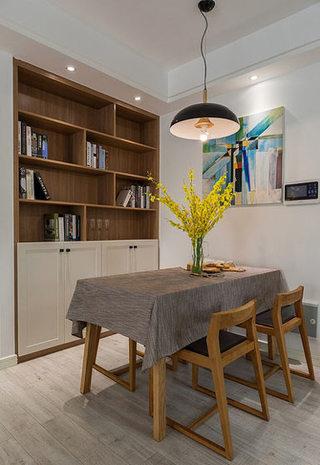 89平现代简约实木餐厅装饰效果图