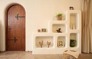 114平地中海可爱装饰收纳墙设计图