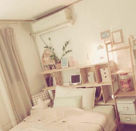 粉色系卧室图片大全