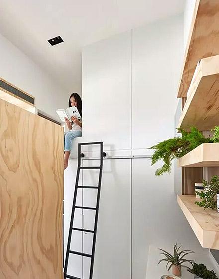 10平米超小户型简易梯子图片