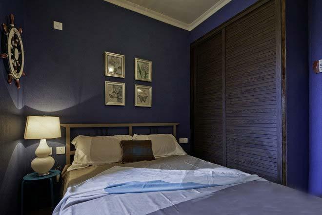 紫色系卧室设计构造图