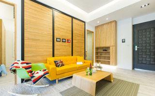 90平米现代简约客厅沙发效果图