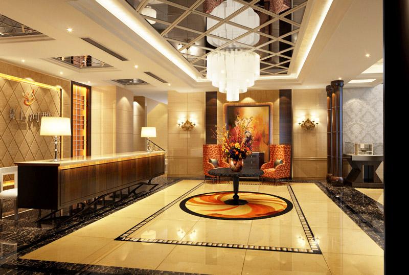 豪华酒店大厅装修风格效果图