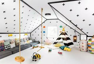 300平度假别墅儿童房装修设计图