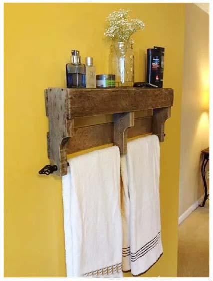 木质毛巾架设计图