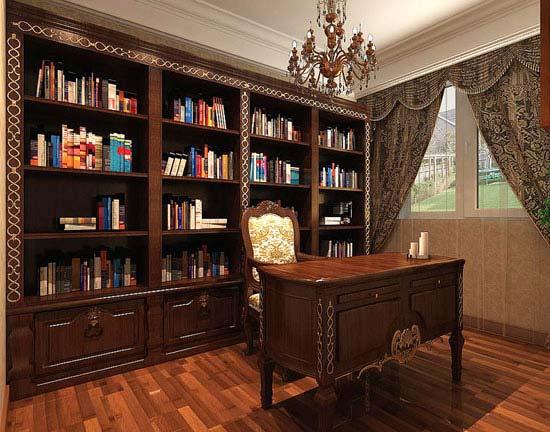 复古书房设计实景图