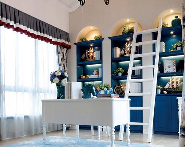 创意书柜装饰装修效果图