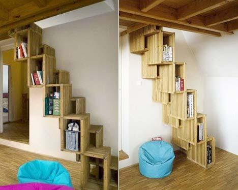 创意书柜设计实景图