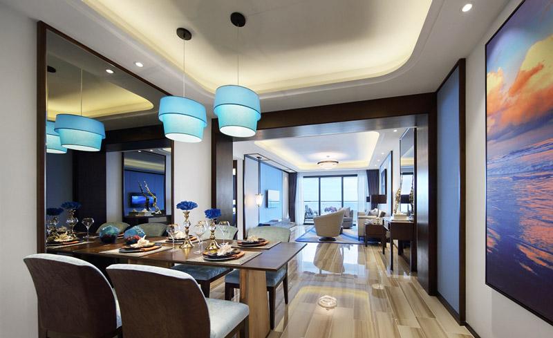 109平简约两居室餐厅吊顶装修设计