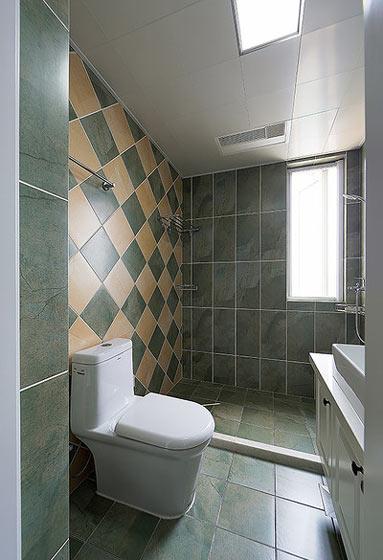75平美式风格卫生间装修图片