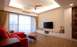 温馨文艺简美式 客厅背景墙设计