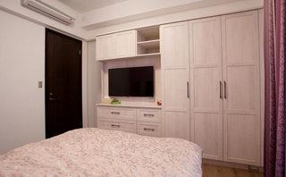 120平美式乡村风格卧室电视背景墙装修