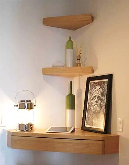 卧室木质收纳架设计装修图