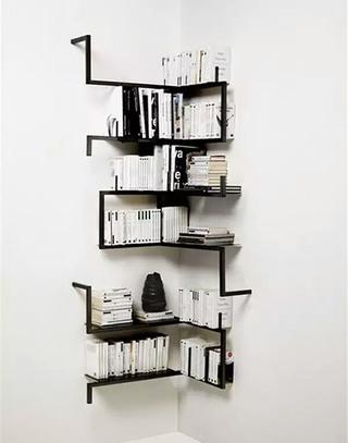 黑色转角书架设计图片大全