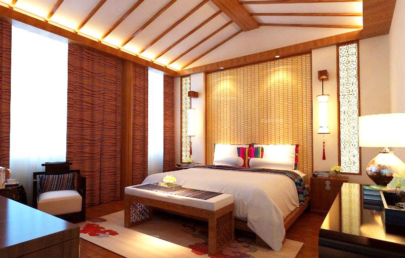 中式风格酒店装修效果图图片