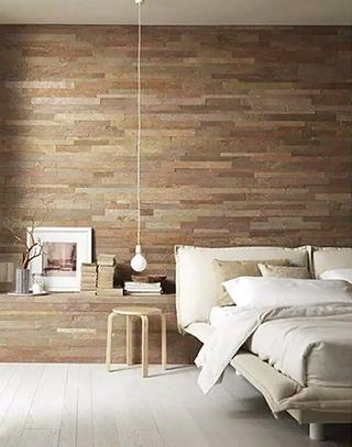 另类卧室软木背景墙装修设计图