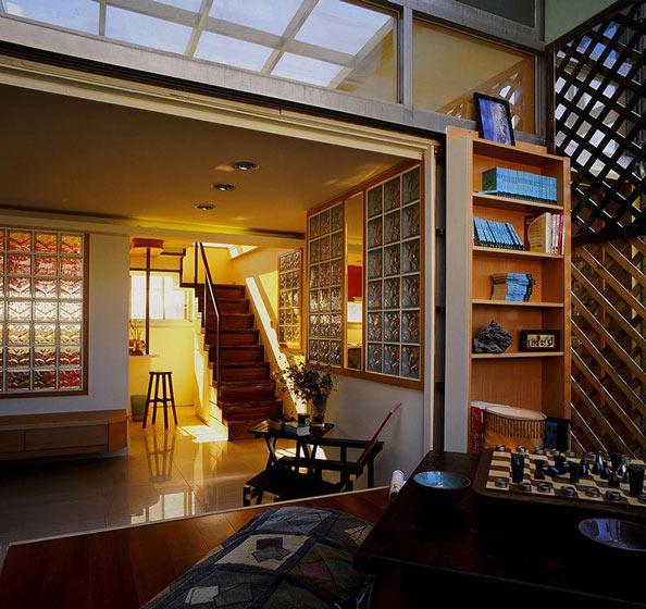 46平小复式楼客厅吊顶效果图