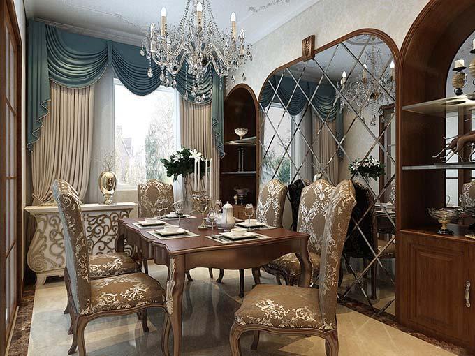 新古典餐厅设计图片