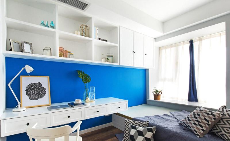 北欧风格三室两厅书房装修设计_齐家网装修效果图图片