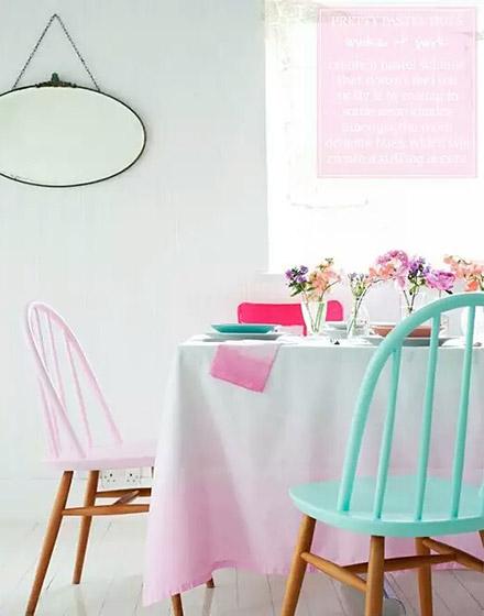 清新浪漫马卡龙色小餐厅装修