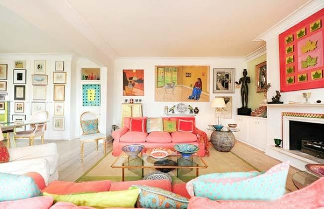 彩色系客厅设计布置图